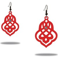 Watches Women Earrings Blue Pearls Dangling Earrings Women Arabesque Red Silicone Gum Multicolored