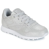 Shoes Girl Low top trainers Reebok Classic CLASSIC LEATHER C Silver