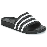 Shoes Tap-dancing adidas Originals ADILETTE Black / White