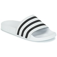 Shoes Tap-dancing adidas Originals ADILETTE White / Black