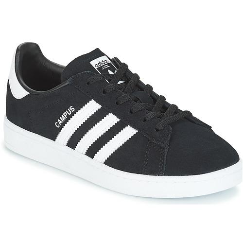 Shoes Children Low top trainers adidas Originals CAMPUS C Black