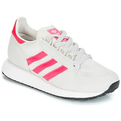 Shoes Girl Low top trainers adidas Originals OREGON J White / Pink