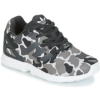 Shoes Boy Low top trainers adidas Originals ZX FLUX C Black / White
