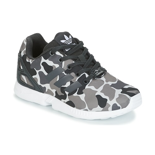 2d34e601aaf11 Shoes Boy Low top trainers adidas Originals ZX FLUX C Black   White