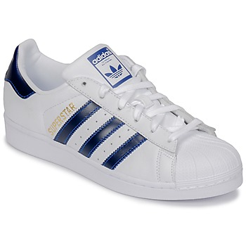 Shoes Low top trainers adidas Originals SUPERSTAR White / Blue