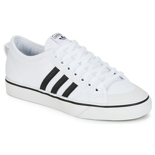 Shoes Low top trainers adidas Originals NIZZA White / Black