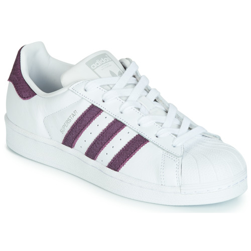 Shoes Women Low top trainers adidas Originals SUPERSTAR W White / Purple