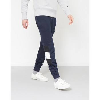 Clothing Men Tracksuit bottoms The Idle Man Contrast Panel Jogger Navy Blue