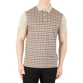 Clothing Men short-sleeved polo shirts Aquascutum Men's Dillon Polo Shirt, Beige beige