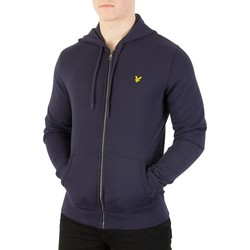 Clothing Men sweatpants Lyle & Scott Men's Zip Through Hoodie, Blue blue