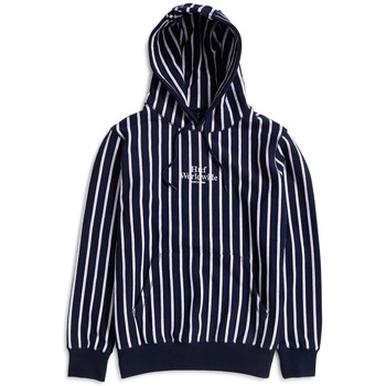 Clothing Men sweaters Huf Sutter Stripe Pullover Hoodie Blue Blue