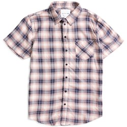 Clothing Men short-sleeved shirts The Idle Man Shadow Check Shirt Pink Pink