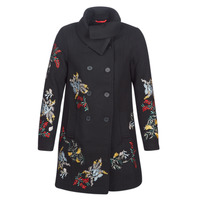 Clothing Women coats Cream CODY Black
