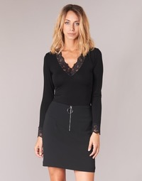 Clothing Women Long sleeved tee-shirts Morgan TRACY Black