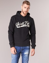 Clothing Men sweaters Schott SWHOOD 28 Black