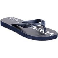 Shoes Men Flip flops Versace E0YRBSL2 Navy blue