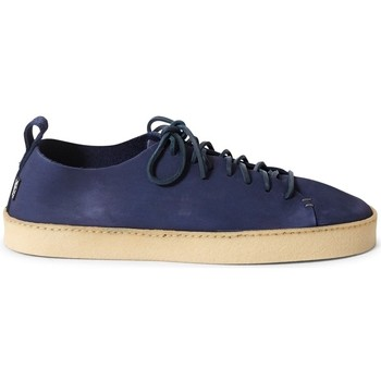 Shoes Men Low top trainers Yogi Rufus Nubuck Trainer Navy Blue