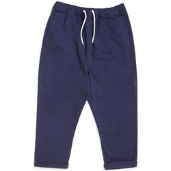 Clothing Men Cropped trousers The Idle Man Loose Fit Cropped Chino Navy Blue