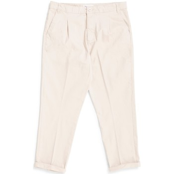 Clothing Men Cropped trousers The Idle Man Loose Fit Cropped Pleated Chino Stone Other