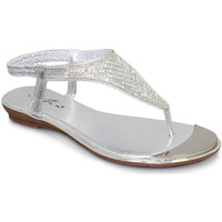 Shoes Women Sandals Lunar Ladies Florence Toe Post Sandal Silver