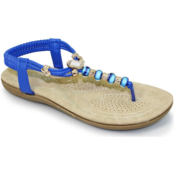 Shoes Women Sandals Lunar Ladies Murano Beaded Toe Post Sandal Light Blue