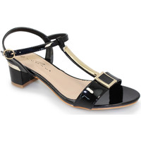 Shoes Women Sandals Lunar Ladies Blaze Patent Low Heel Sandal Black