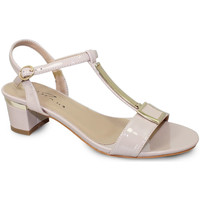 Shoes Women Sandals Lunar Ladies Blaze Patent Low Heel Sandal Nude