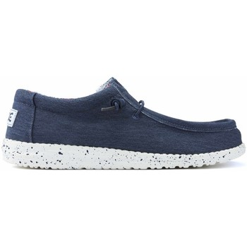 Shoes Men Loafers Dude SHOES  WALLY STRETCH M 11038 BLUE