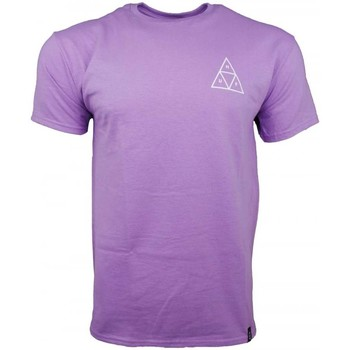 Clothing Men short-sleeved t-shirts Huf Triple Triangle T-Shirt purple