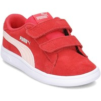 Shoes Children Low top trainers Puma Smash V2 SD V Red