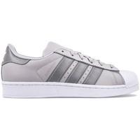 Shoes Children Low top trainers adidas Originals Superstar J Silver-Grey