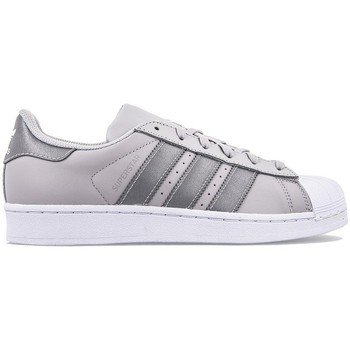 Shoes Children Low top trainers adidas Originals Superstar J Grey-Silver