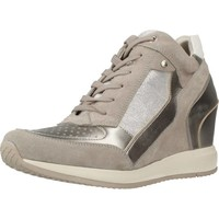 Shoes Women Low top trainers Geox D NYDAME Silver
