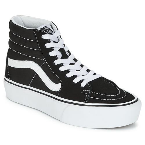 Shoes Women Hi top trainers Vans SK8-HI PLATFORM 2.1 Black / White