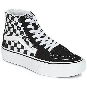Shoes Women Hi top trainers Vans SK8-HI PLATFORM 2.1 Black / White