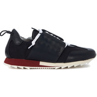 Shoes Women Low top trainers Esseutesse in black leather and suede sneaker Black