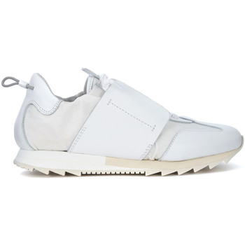 Shoes Women Low top trainers Esseutesse in white leather and suede sneaker White