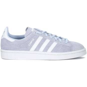 Shoes Women Low top trainers adidas Originals Sneaker  Campus in nubuck azzurro Light blue