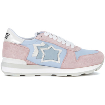 Shoes Women Low top trainers Atlantic Stars Gemma pink leather and light blue nylon sneaker Multicolour