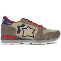 Shoes Men Low top trainers Atlantic Stars Sneaker  Sirius in crosta e tessuto khaki, blu e rossa Multicolour