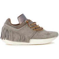 Shoes Women Low top trainers Esseutesse sand leather sneaker with fringes. Brown