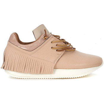 Shoes Women Low top trainers Esseutesse Description  pink leather sneaker with fringes Pink