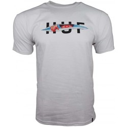 Clothing Men short-sleeved t-shirts Huf OG Logo Ripped T-Shirt white