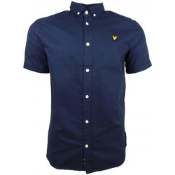 Clothing Men short-sleeved shirts Lyle And Scott Vintage SS Oxford Shirt blue
