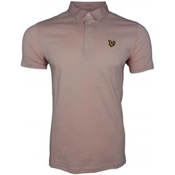 Clothing Men short-sleeved polo shirts Lyle And Scott Vintage Woven Collar Polo Shirt pink