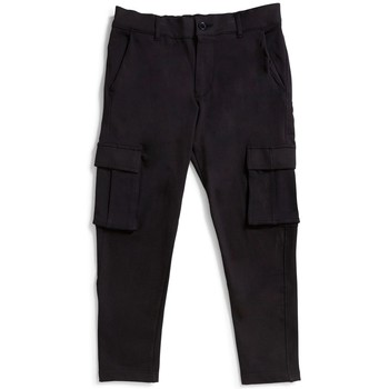 Clothing Men Cargo trousers The Idle Man Cargo Joggers Black Black
