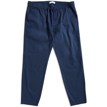 Clothing Men 5-pocket trousers The Idle Man Cropped Elasticated Waist Trousers Navy Blue
