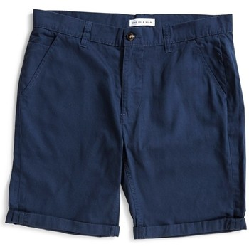 Clothing Men Shorts / Bermudas The Idle Man Chino Shorts Navy Blue