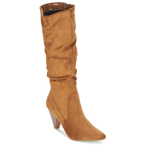 Shoes Women High boots Moony Mood JULMA Brown