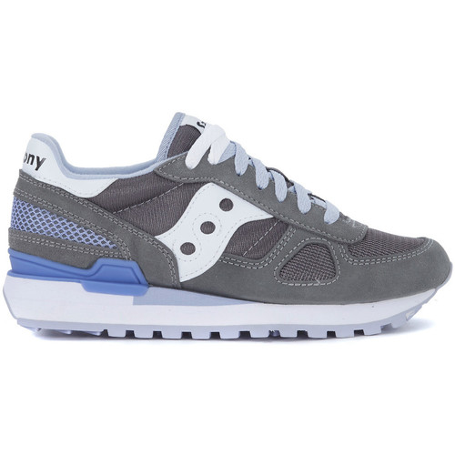 Shoes Women Trainers Saucony Shadow grey, lilac and white suede and mesh sneaker Grey